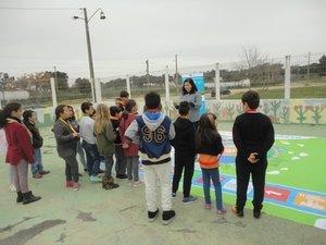 Escola Básica Praias do Sado dinamizam o Jogo Gigante sobre as Metas do Planeta